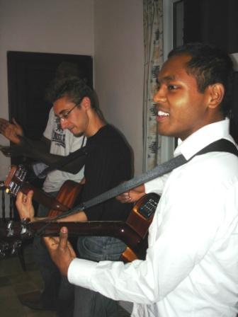Davida and Nathanael leading worship