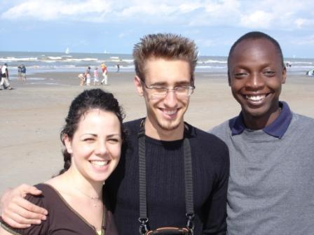 Rosa-Maria, Nat and Remus at the beach