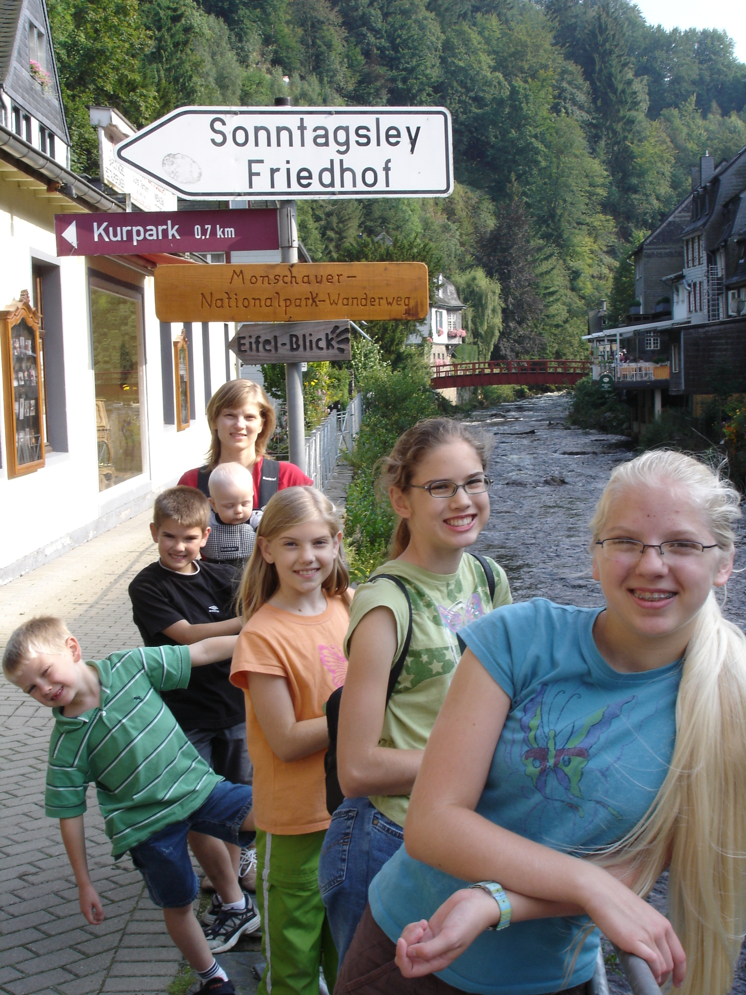 in Monschau,Germany near the river