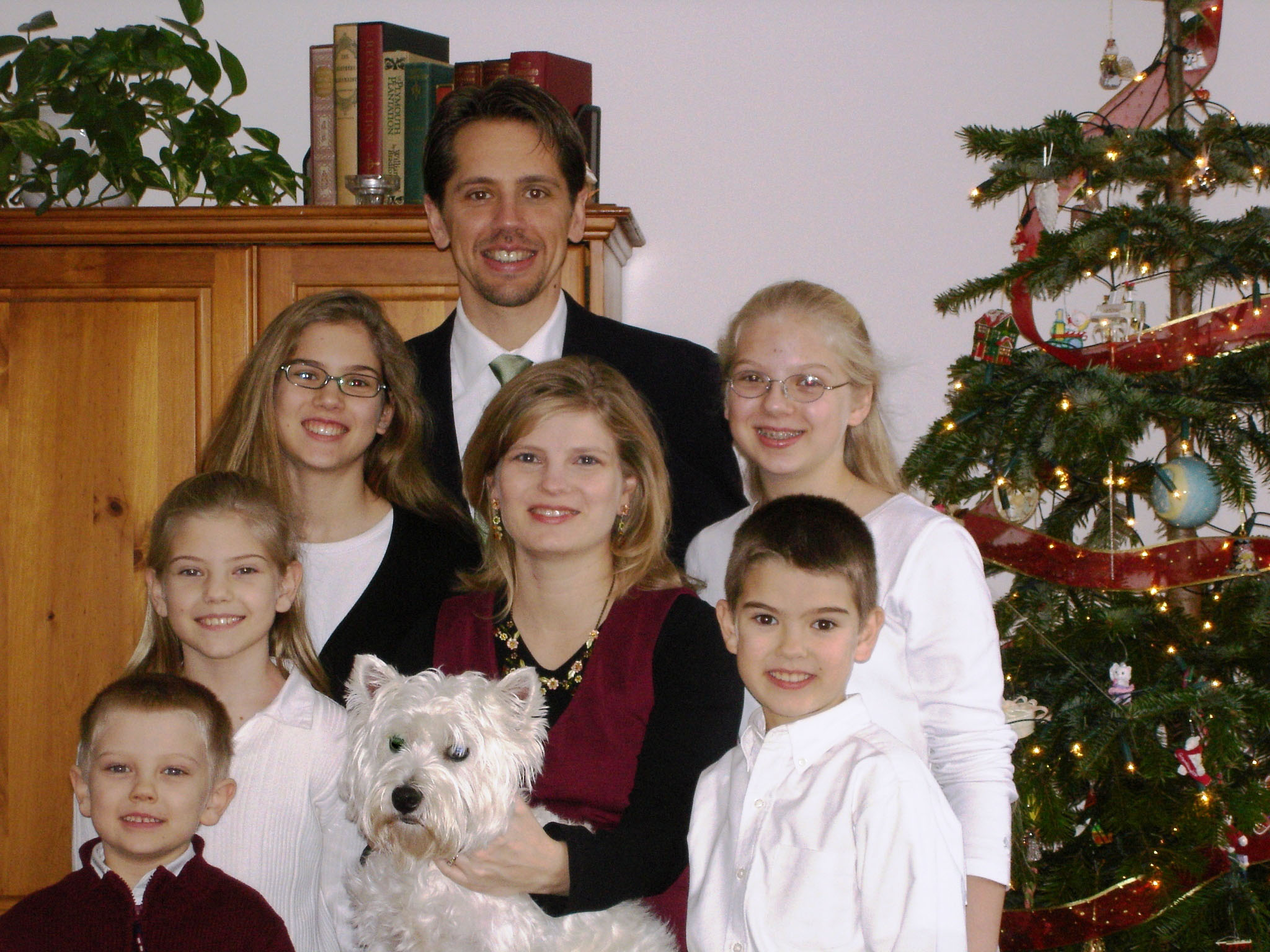 Bonin family photo Dec 2006