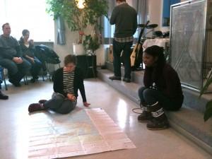 praying over map of Europe