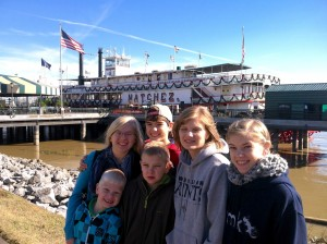 embarking on the Natchez paddle wheeler steamboat