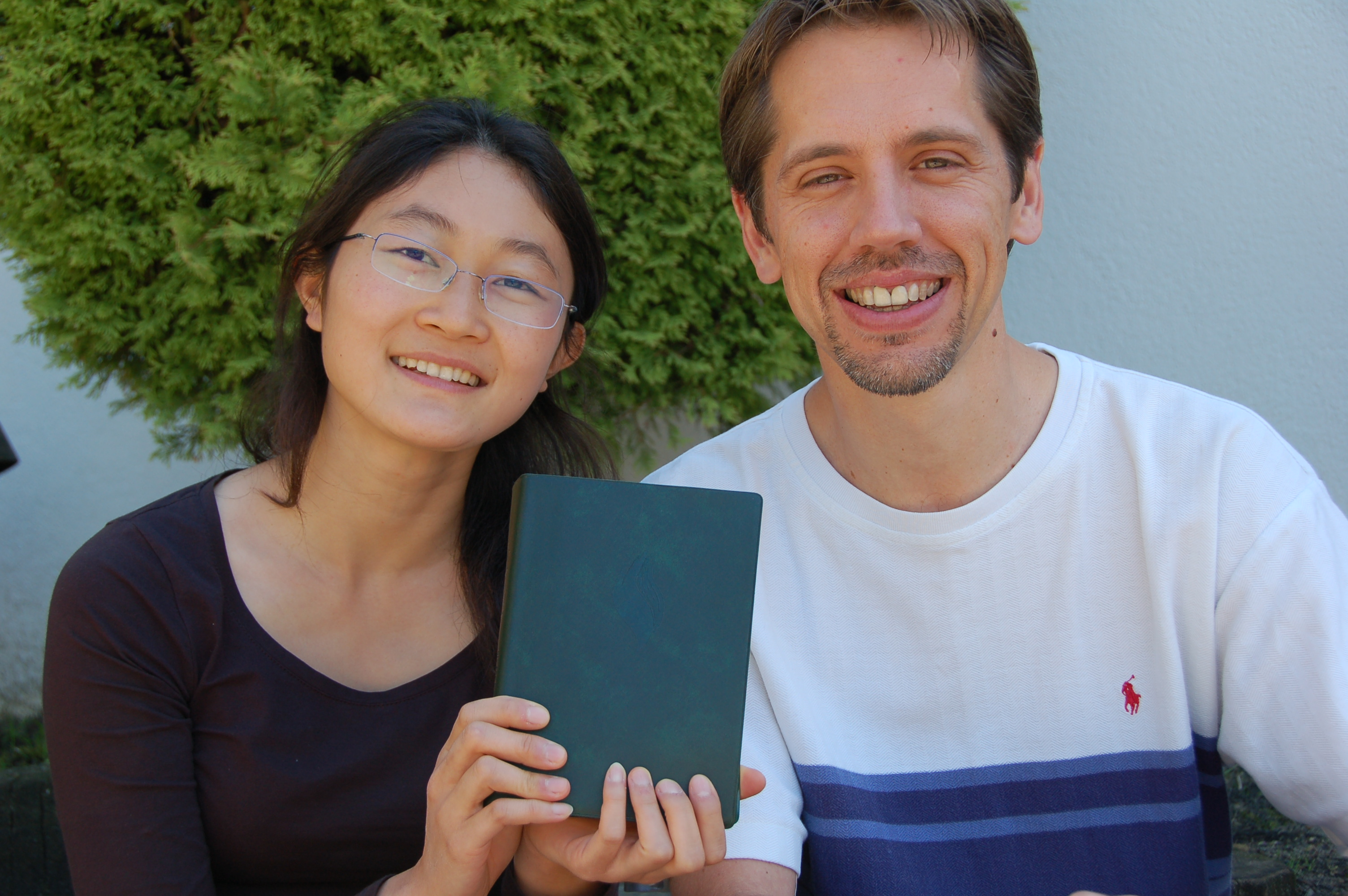 Ying and Blair with Fire Bible